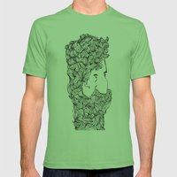 Bearded Man Mens Fitted Tee Grass SMALL