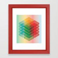 Color Cubes Framed Art Print