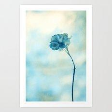 blue day Art Print