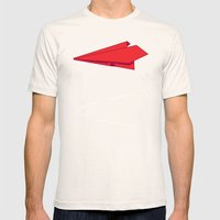 Paper Plane Mens Fitted Tee Natural SMALL