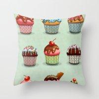 Muffins Throw Pillow