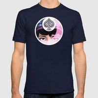 Clara Mens Fitted Tee Navy SMALL