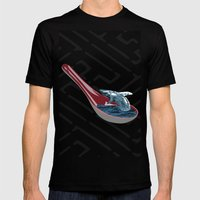 Spoon Watching Mens Fitted Tee Black SMALL