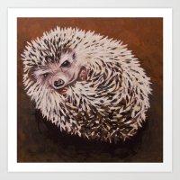 Donald the Hedgehog Art Print