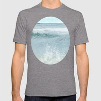 Salt Water for the Soul Mens Fitted Tee Tri-Grey SMALL