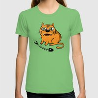 FAT CAT Womens Fitted Tee Grass SMALL