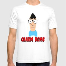 Charm Bomb  |  Tina Belcher  SMALL White Mens Fitted Tee
