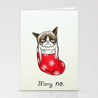 grumpy christmas Stationery Cards