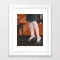 girl with legs Framed Art Print