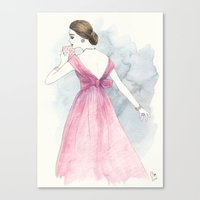 'Emma' Watercolor Fashio… Canvas Print