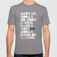 Trainspotting Mens Fitted Tee Tri-Grey SMALL