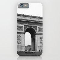 iPhone & iPod Case featuring Arc de Triomphe Noir by Olivia Nicholls-Bates