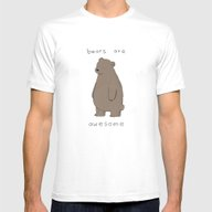 Bears Are Awesome  Mens Fitted Tee White MEDIUM