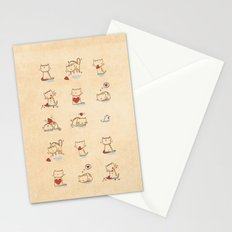 Cats and hearts Stationery Cards