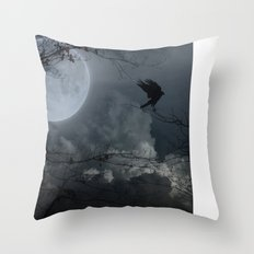 There's A Moon Out Tonight Throw Pillow