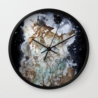 Excerpt / Curacao Coffee on Canvas Wall Clock