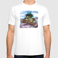 Osaka Castle - Painting … Mens Fitted Tee White SMALL