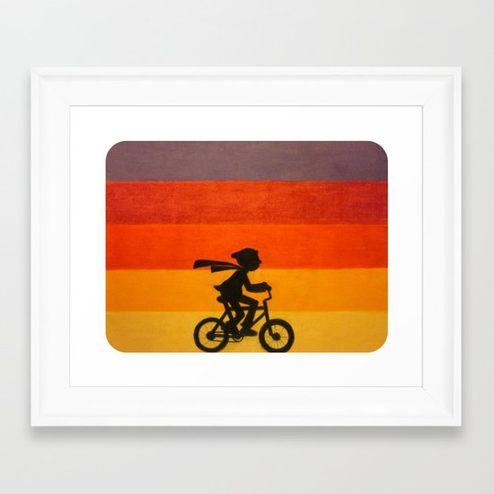"""Get Home Before Dark"" Framed Art Print"