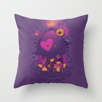 Walker Of The Darkness Throw Pillow