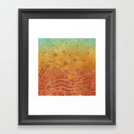 Ripples And Rain, Pond Framed Art Print