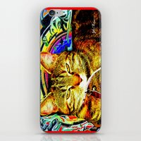 Psychedelic Cat iPhone & iPod Skin