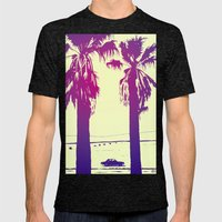 Palms Mens Fitted Tee Tri-Black SMALL
