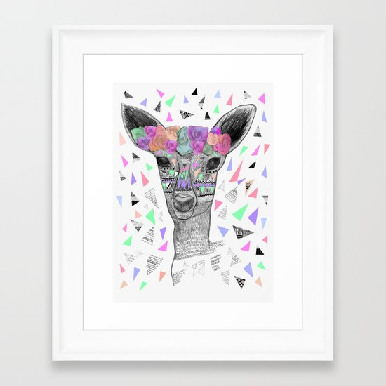 BLOWN A WISH Framed Art Print