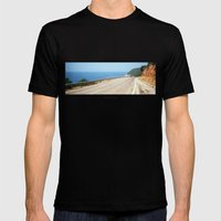 ROAD BLUE Mens Fitted Tee Black SMALL