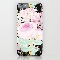 Flower Bouquet in Black iPhone 6 Slim Case