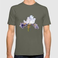 Purple Iris Mens Fitted Tee Lieutenant SMALL