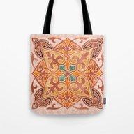 Brown Mandala 02 Tote Bag