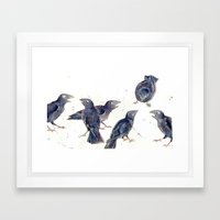 Gossip Of The Crows Framed Art Print
