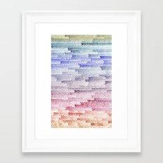 painted waterfall Framed Art Print