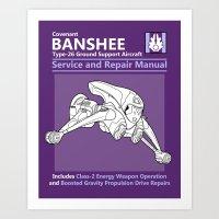 Banshee Service and Repair Manual Art Print