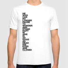 Stand Rapt In Awe quote White SMALL Mens Fitted Tee