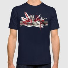 Red Metal Mens Fitted Tee Navy SMALL