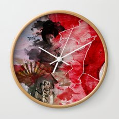Geisha's Delight Wall Clock