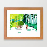 Red Riding Hood And The … Framed Art Print