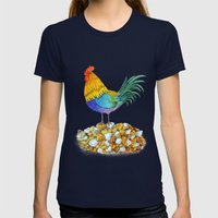 The Cockerel and The Jewel Womens Fitted Tee Navy SMALL