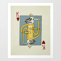 King Of Hearts Art Print