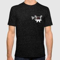 Kromo Tshirt Mens Fitted Tee Tri-Black SMALL