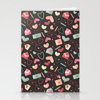 Love Letters Pattern Stationery Cards