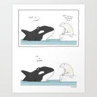 Panda Whale  Art Print