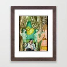 Golden Shower Framed Art Print
