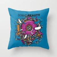 Donut Beauty Throw Pillow