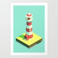 Lighthouse Day Art Print
