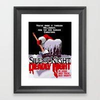 8 Bit Silent Night, Dead… Framed Art Print