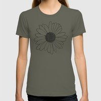 Daisy Grid On Side Womens Fitted Tee Lieutenant SMALL