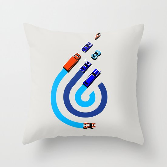 Spy Hunter Throw Pillow