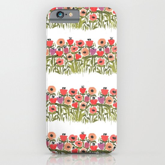 Flower stripe garden iPhone & iPod Case